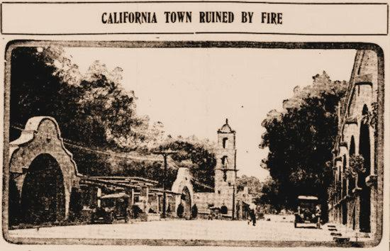 A newspaper as far away as Missouri reported on fire-devastated Ojai Image: Cape County Herald, July 6, 1917