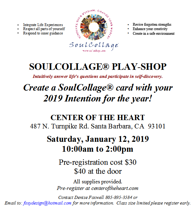 SoulCollage Playshop  2019 Intention title=