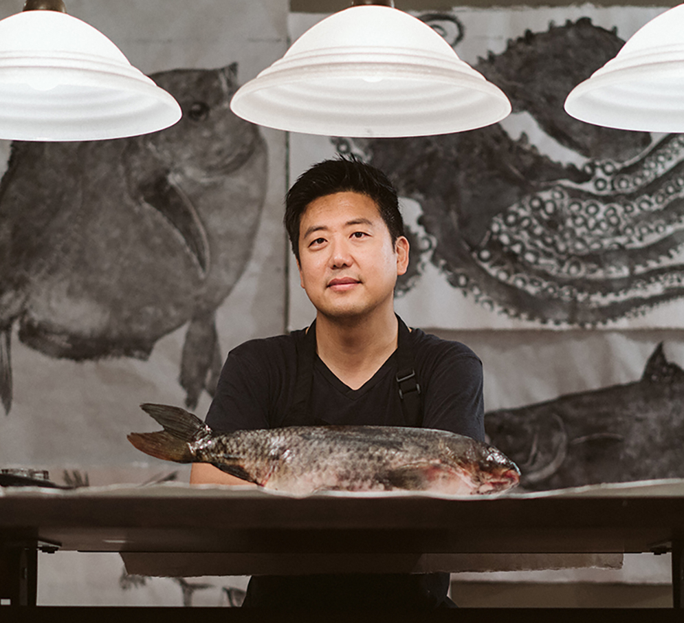 Fishing with Paper & Ink: Nature Prints  Demonstration by Dwight Hwang with Commentary by Emily Miller title=
