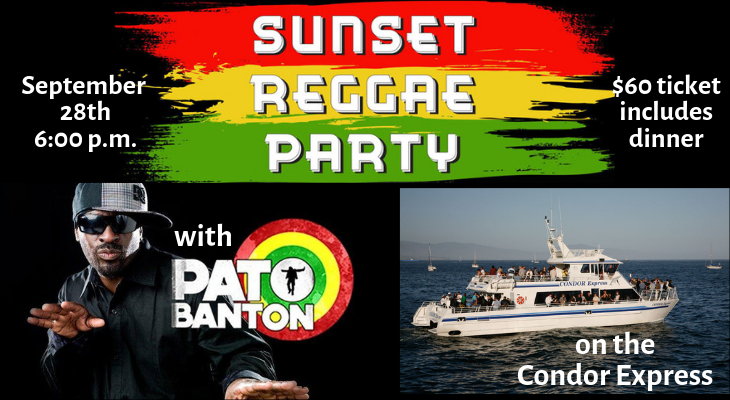 Sunset Reggae Cruise with Pato Banton title=