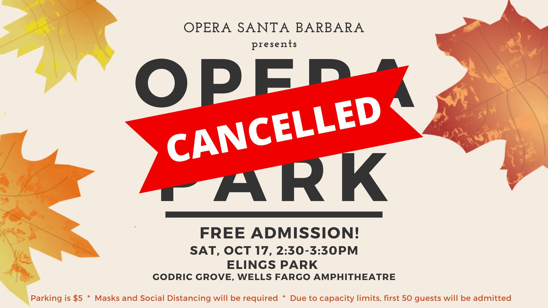 CANCELLED - Opera in the Park - Opera Santa Barbara title=