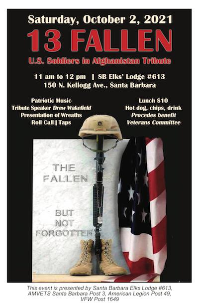 13 Fallen Soldiers' Trubute title=