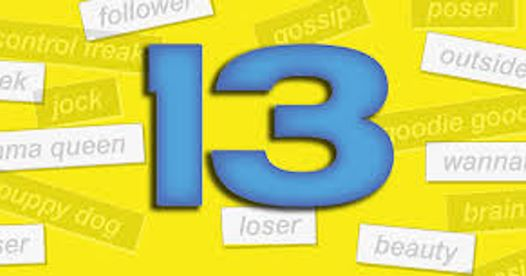 """""""13"""" the musical presented by Jo Ann Caines Theatre Collective: La Cumbre Jr. High & Santa Barbara School of Performing Arts (SOPA)  title="""