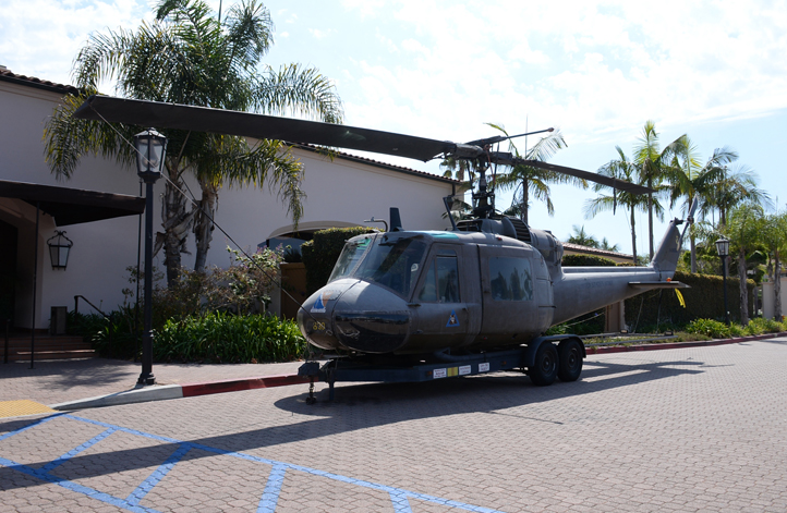 Local Vietnam Vets Authentic Huey Helicopter on Display