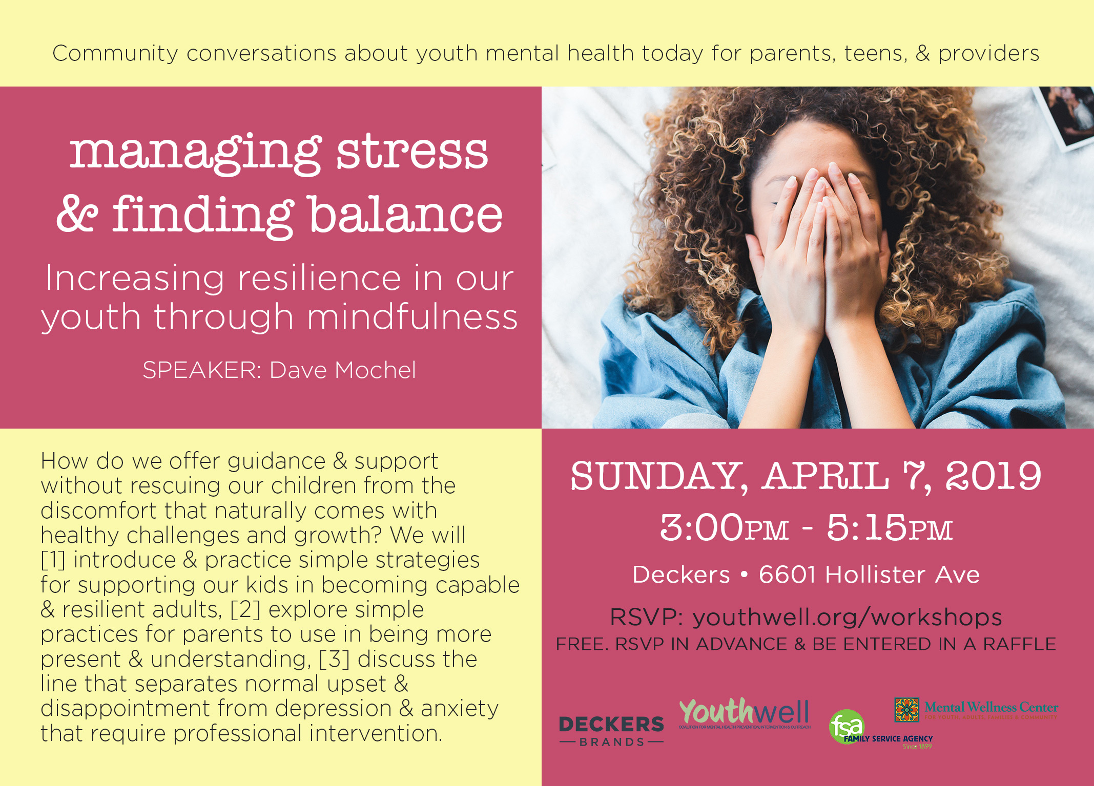 Managing stress & finding balance - increasing resilience in our youth through mindfulness & self-care title=