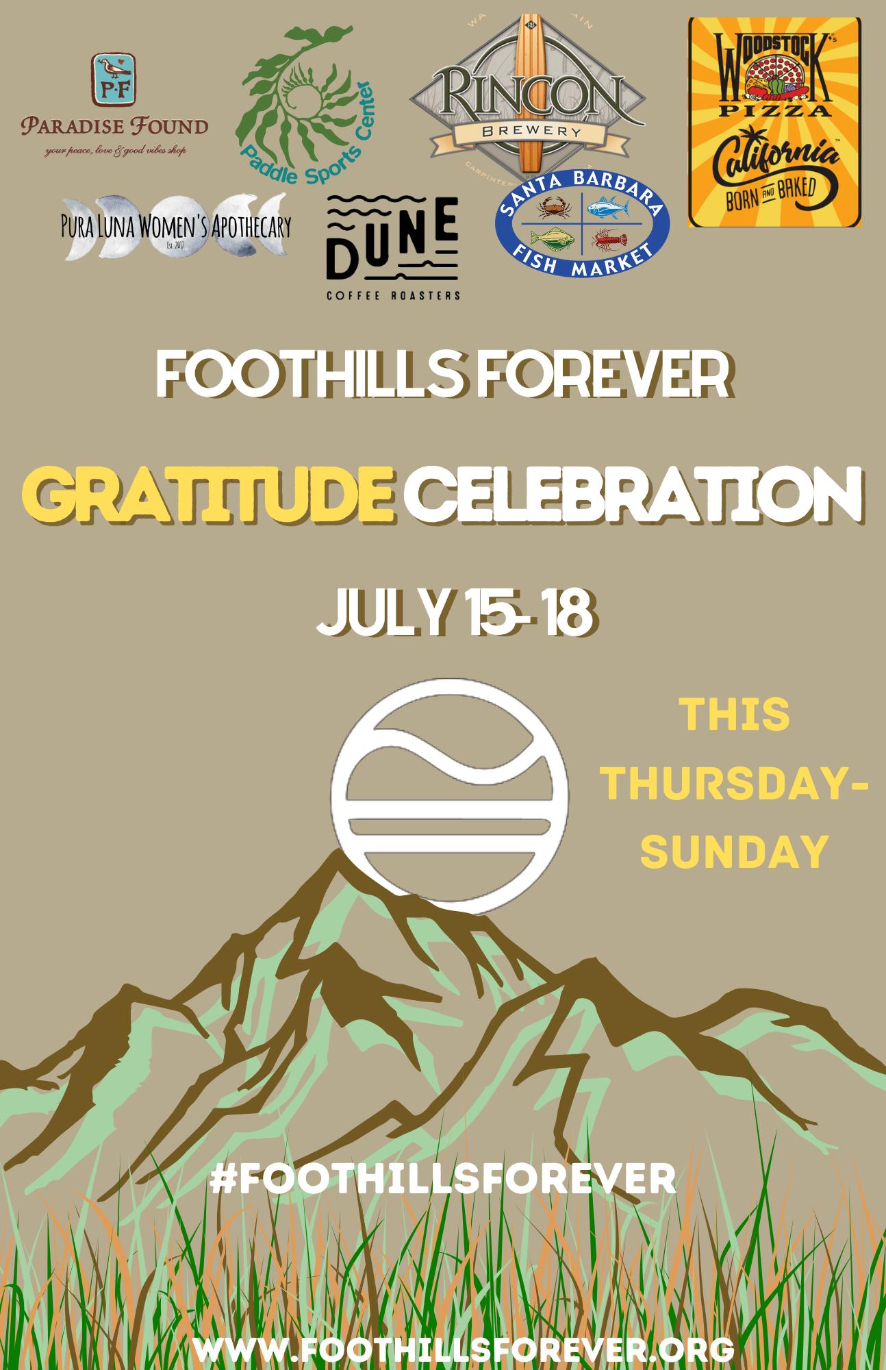 Foothills Forever Gratitude Celebration Lineup title=