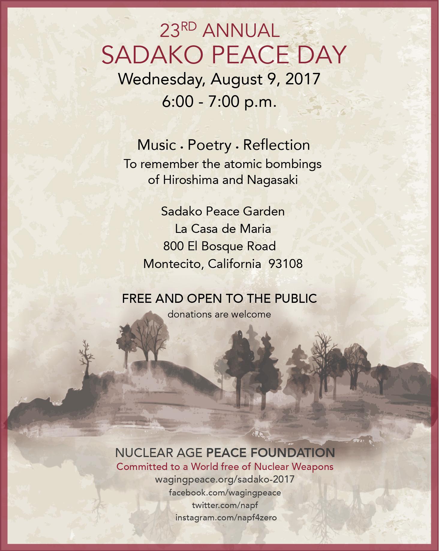 Sadako Peace Day title=