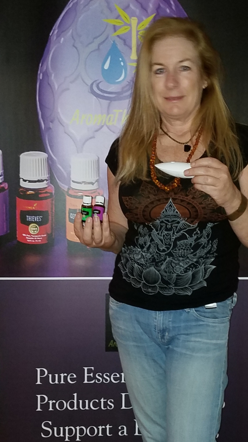 Lisa Osborn of AromaThrive.com will demonstrate how to use essential oils to support a healthy lifestyle title=
