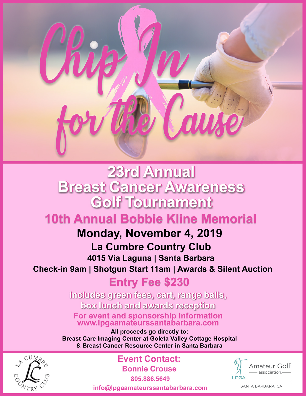 Chip In for the Cause, 23rd Annual Breast Cancer Awareness Golf Tournament title=