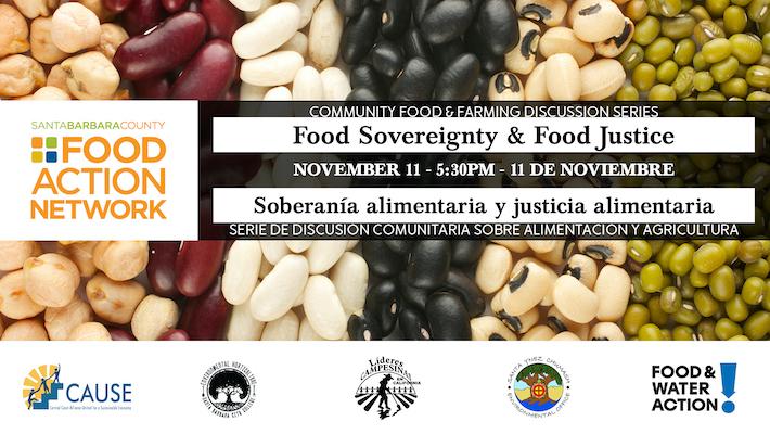 Community Food & Farming Discussion Series: Food Sovereignty & Food Justice / Soberanía alimentaria y justicia alimentaria title=