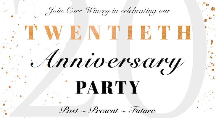 Carr Winery 20th Anniversary Party title=