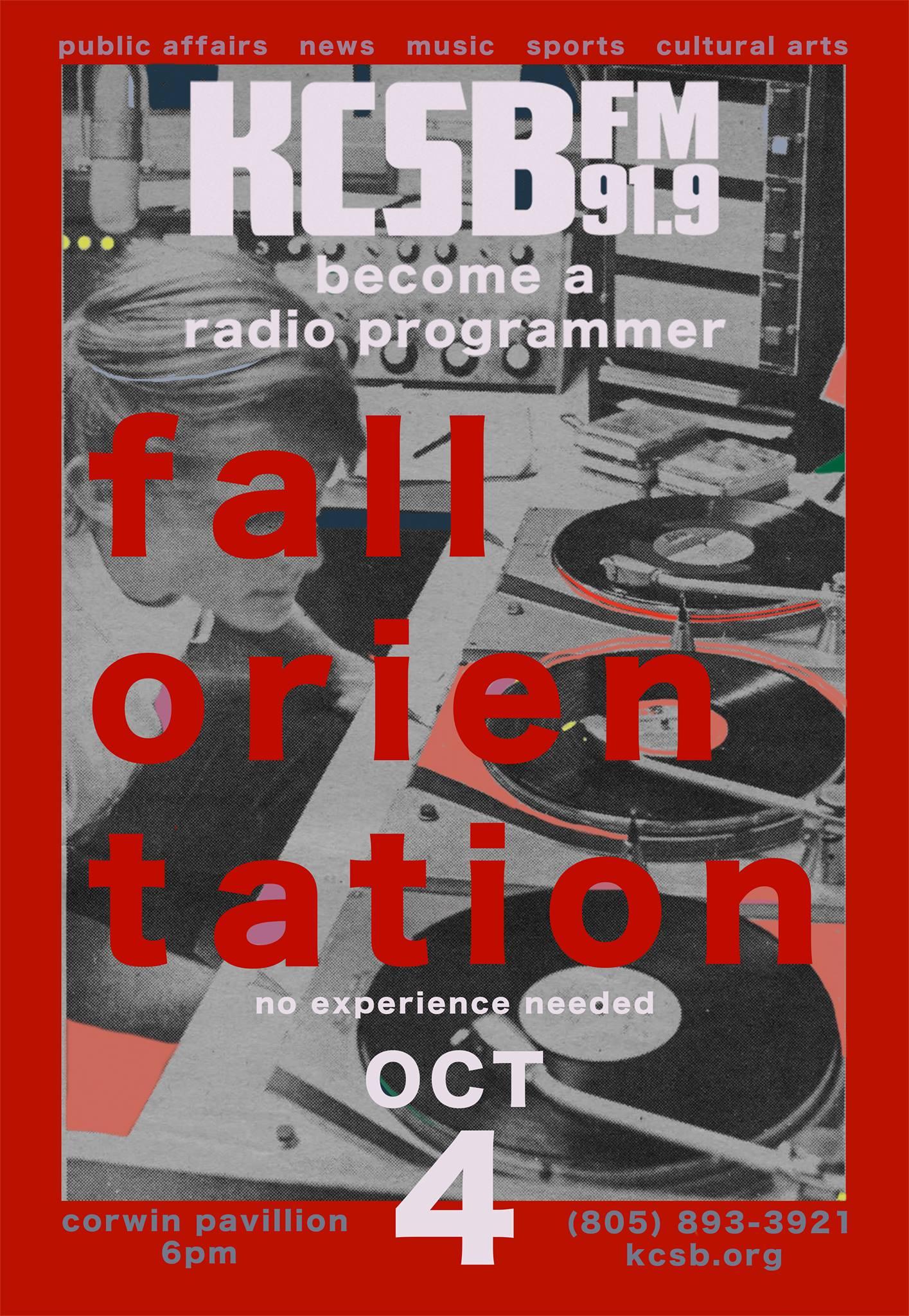 KCSB-FM Fall Orientation