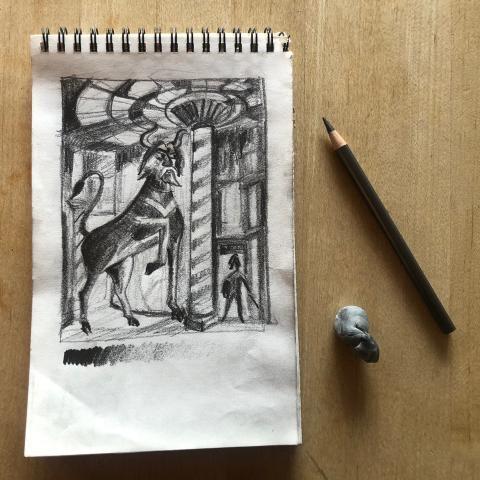 Adult Studio Art Workshop (via Zoom): Drawing title=
