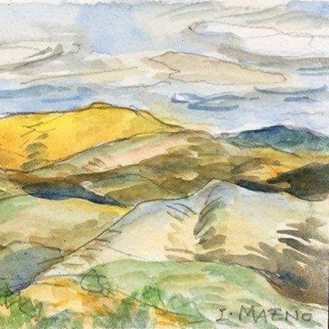 Adult Studio Art Workshop (via Zoom): Watercolor Painting - Landscape title=