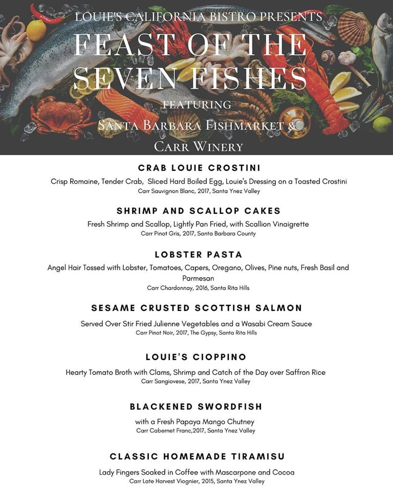 Feast of the Seven Fishes at Louie's California Bistro title=