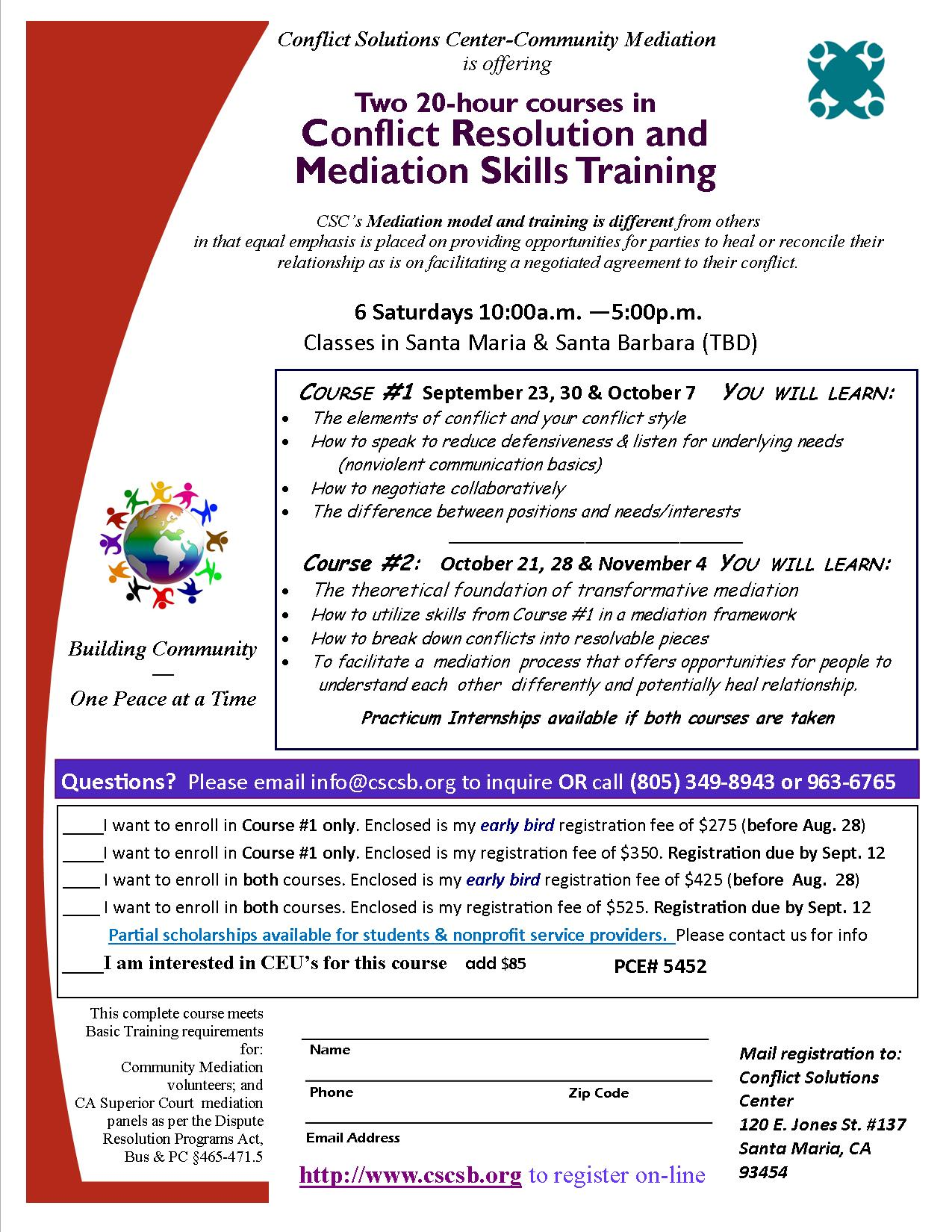 Conflict Resolution and Mediation Training
