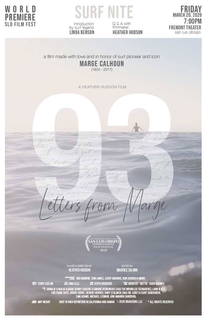 The Women and The Waves: 93 Letters from Marge:  A Zoom Film Screening & Q&A presentation by  filmmaker, Heather Hudson title=