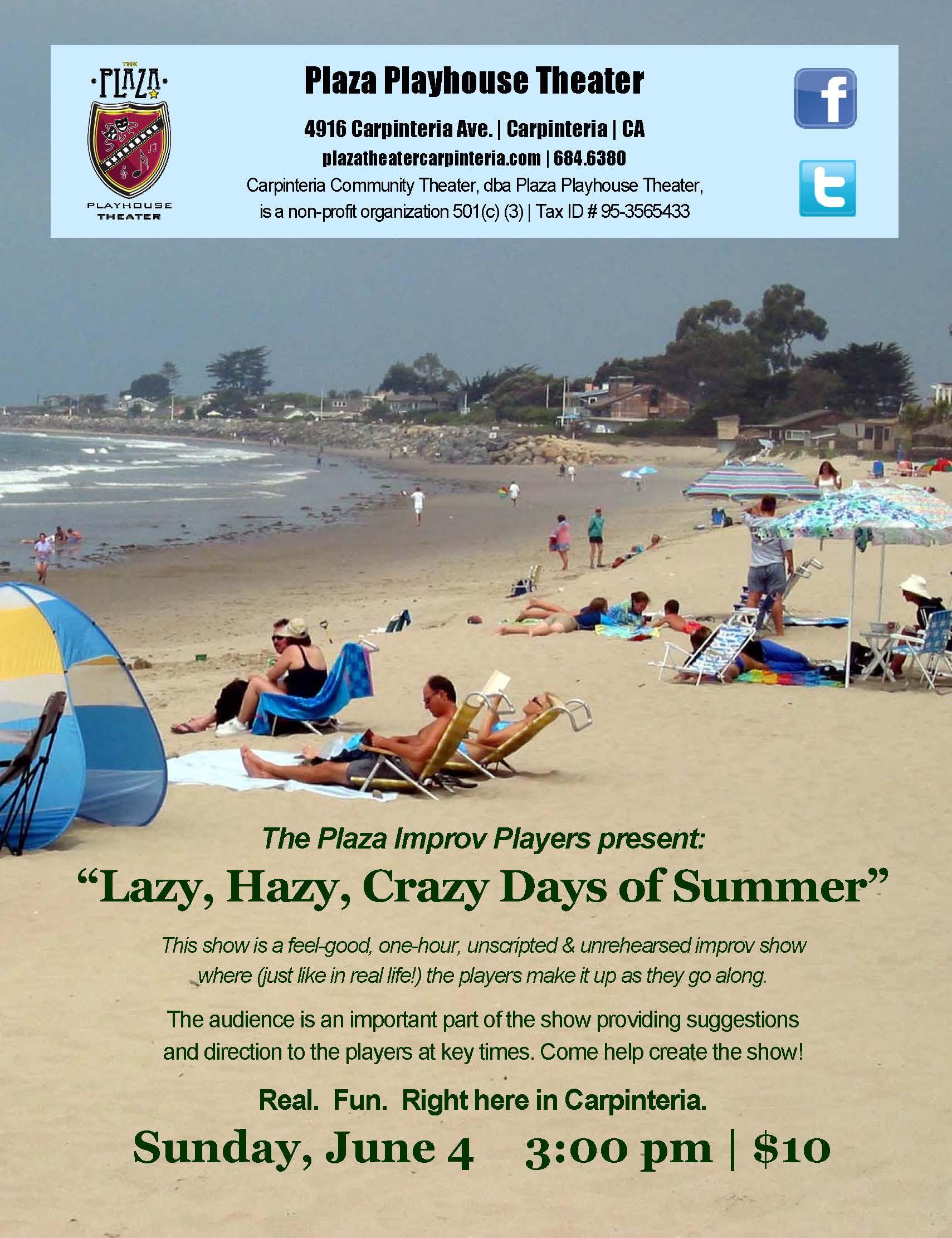 Lazy Hazy Crazy Days of Summer, an improv matinee