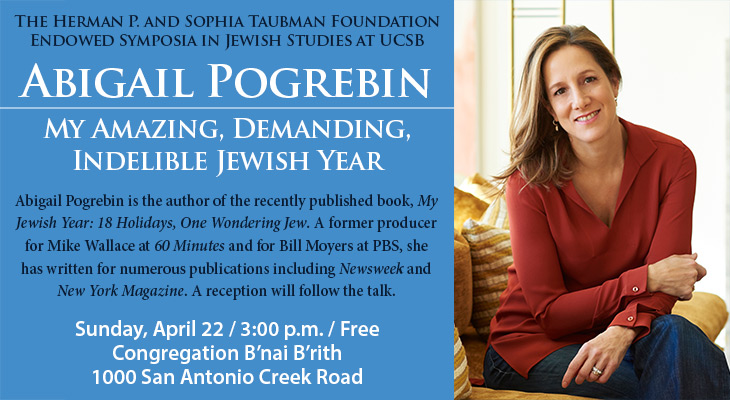 Abigail Pogrebin Lecture: My Amazing, Demanding, Indelible Jewish Year title=