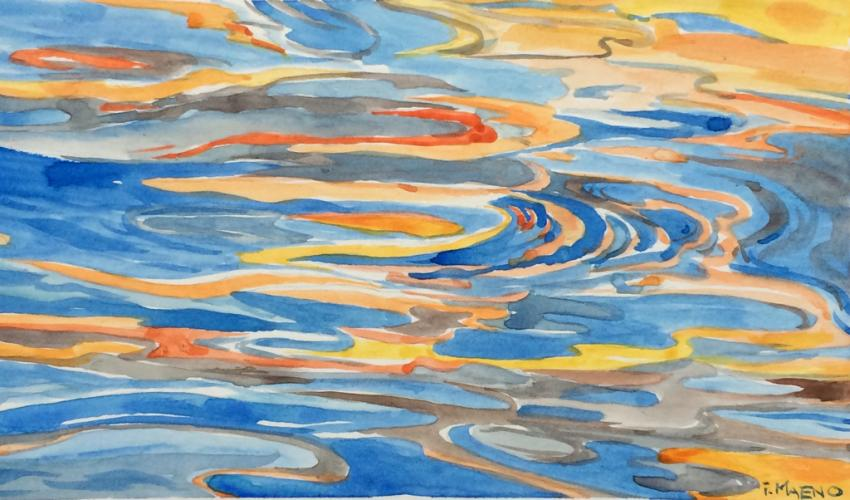 Adult Studio Art Workshop (via Zoom): Watercolor Painting - Reflections on Water title=