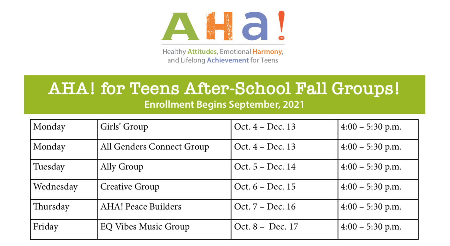 AHA! Fall 2021 After-School Program Orientation title=