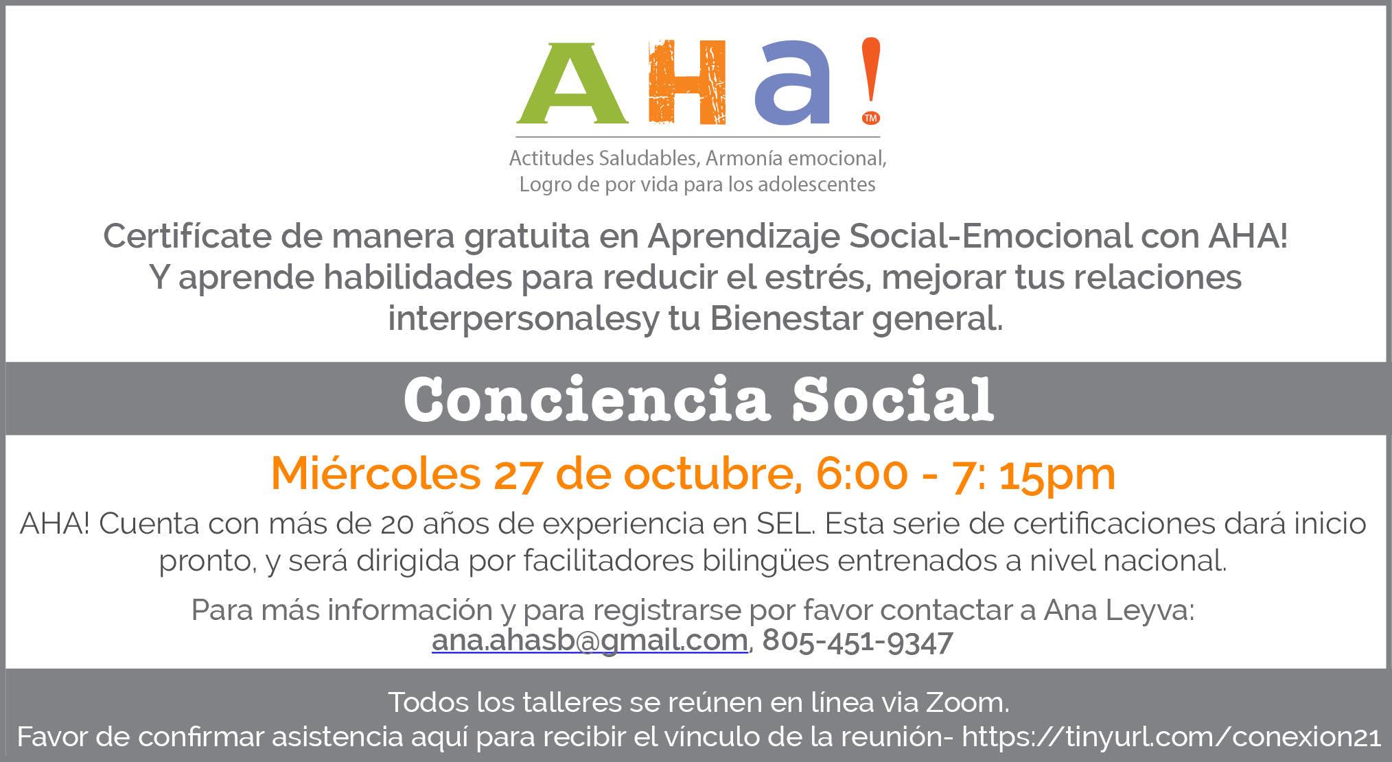 AHA! Spanish SEL Series_20211027 title=