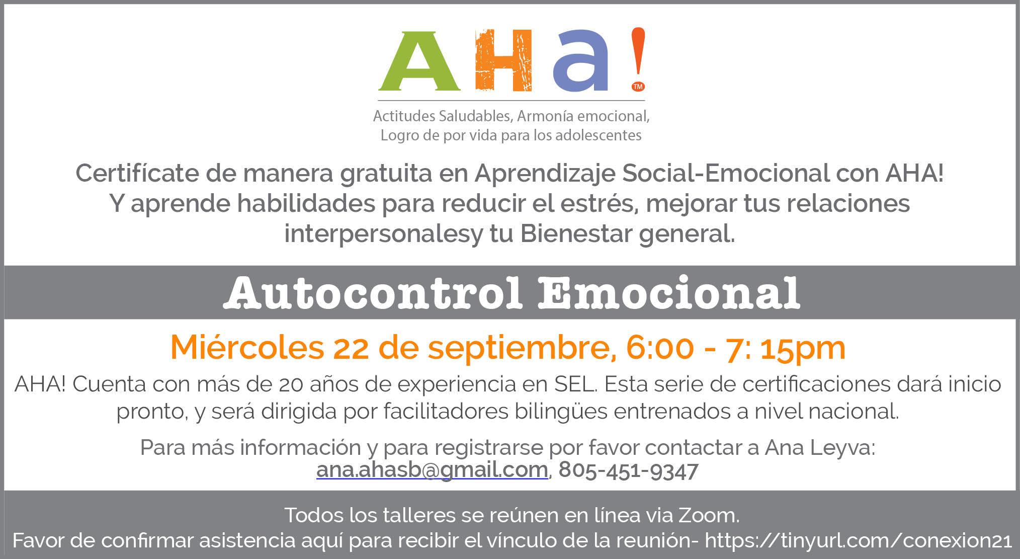 AHA! Spanish SEL Series_20210922 title=