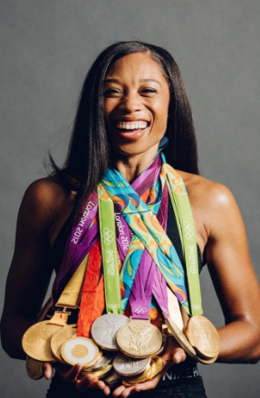 The Most Decorated Track and Field Olympian in History Allyson Felix  title=
