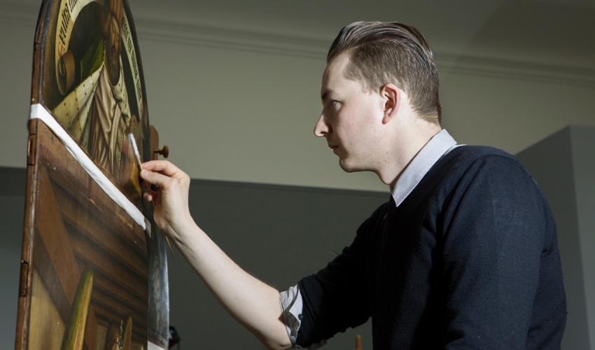 """Restoration/Revelation: The Conservation Treatment of the 'Ghent Altarpiece'"" title="