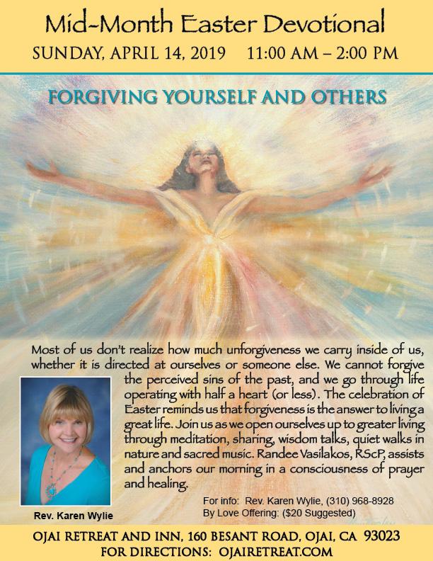 April Mid-Month Devotional Retreat with Rev. Karen