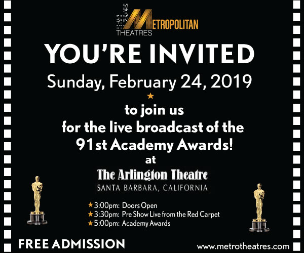Academy Awards Live Broadcast @ The Arlington Theatre title=