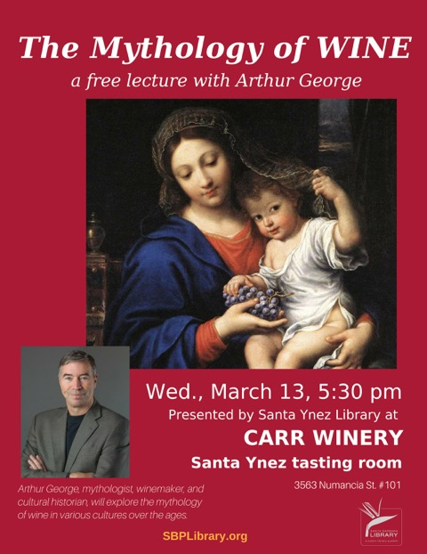 The Mythology of Wine: A Free Lecture at Carr Winery title=
