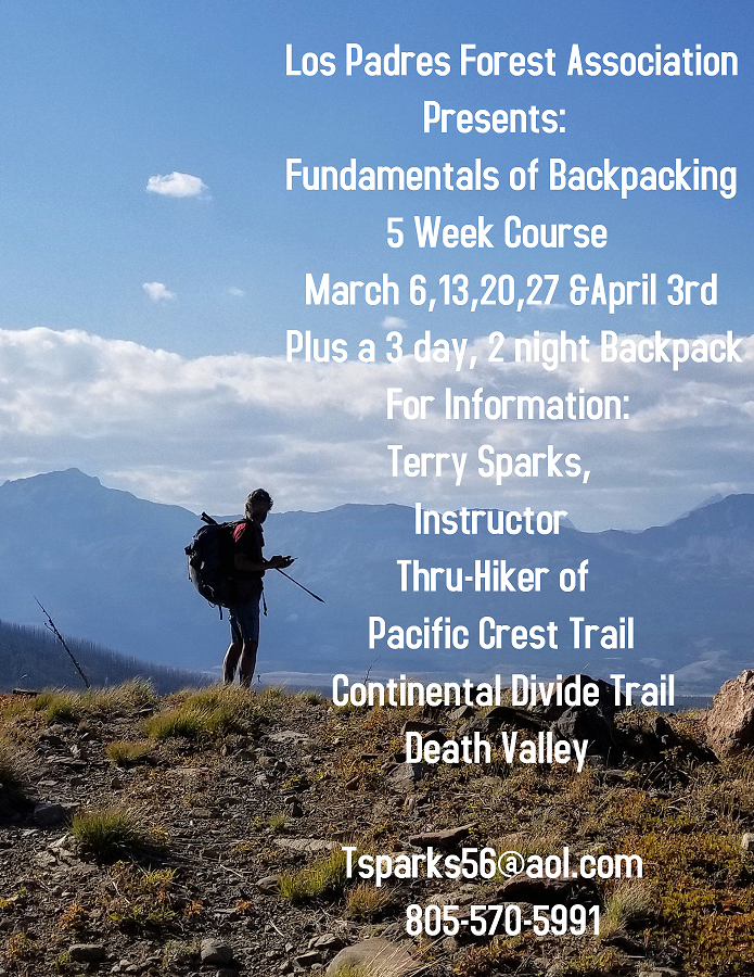 LPFA FUNDAMENTALS OF BACKPACKING 5 WEEK CLASS title=