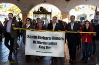 MLK Jr March Monday 20th from de la Guerra Plaza to the Arlington