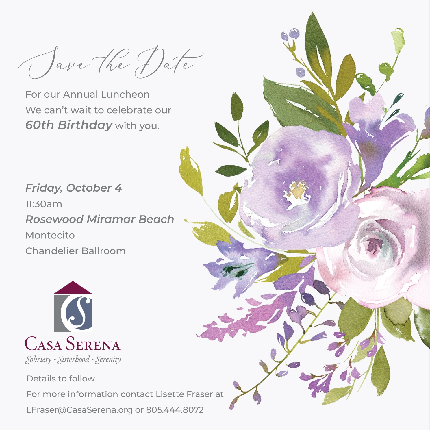 Casa Serena 60th Anniversary Party title=