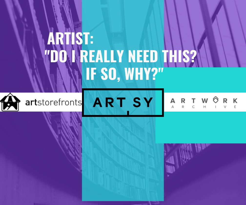 """Artstorefronts-Artsy-Artwork Archive - """"Do I Really Need This? If so, why?"""" title="""