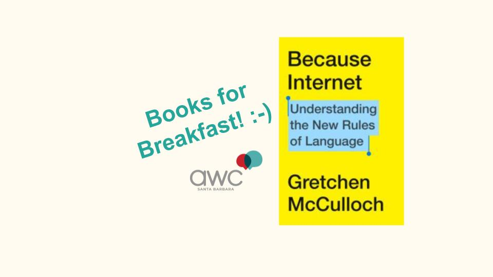 Books for Breakfast: Because Internet title=