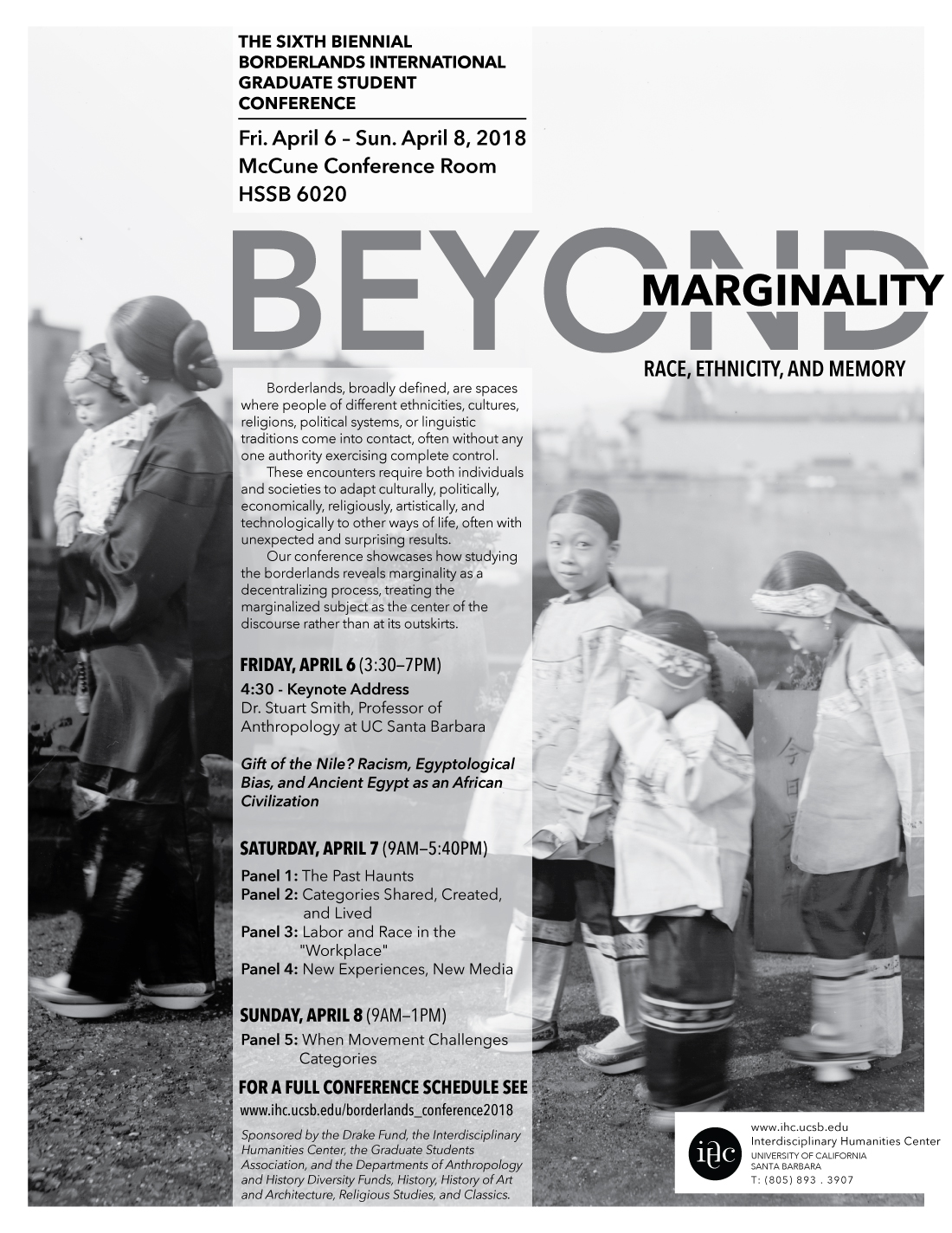 The Sixth Biennial Borderlands International Graduate Student Conference: Beyond Marginality: Race, Ethnicity, and Memory title=