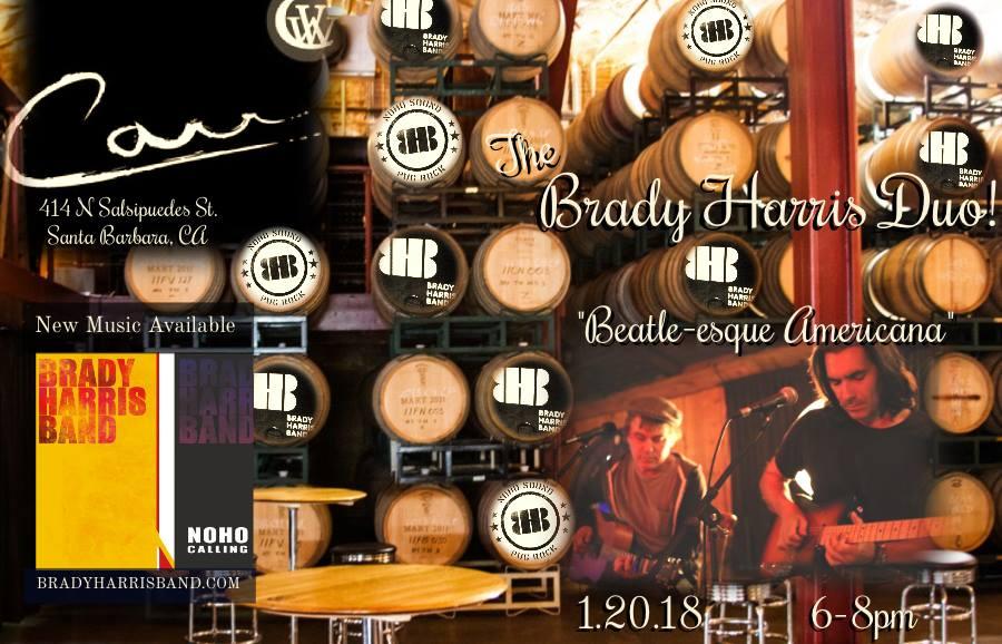 Live Music in the Barrel Room with Brady Harris & John Adair title=