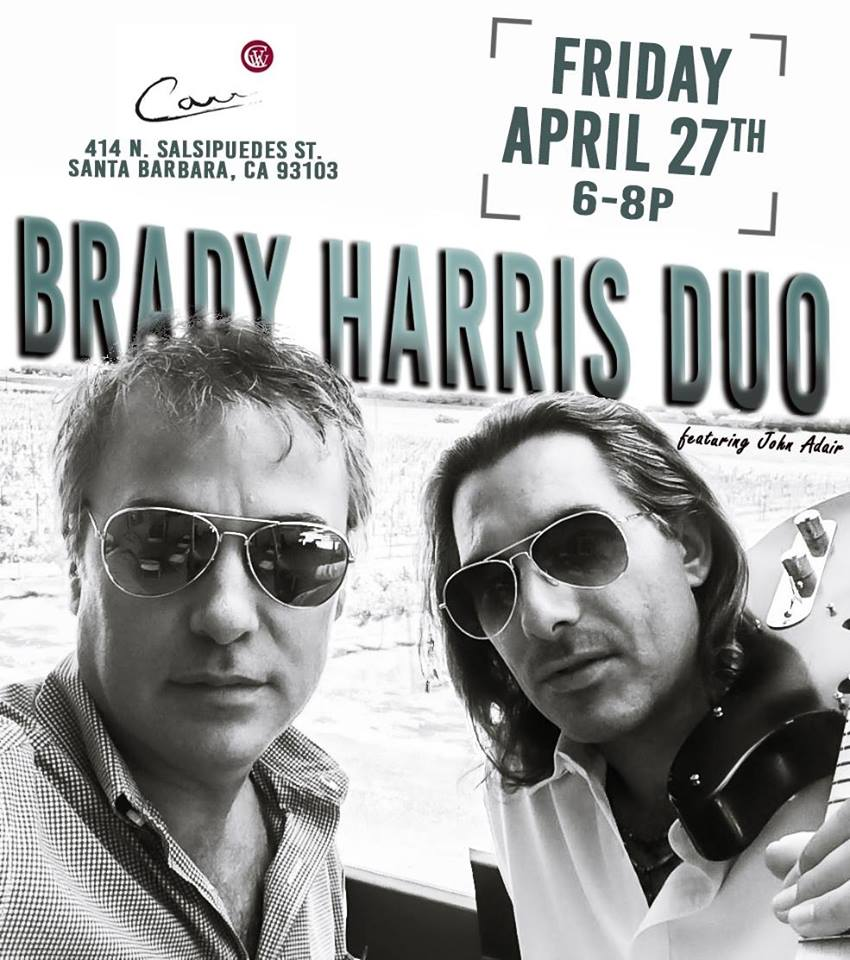 Barrel Room Music Nights with The Brady Harris Duo 04.27.18