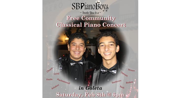 SBPianoBoys FREE Classical Piano Concert in Goleta title=