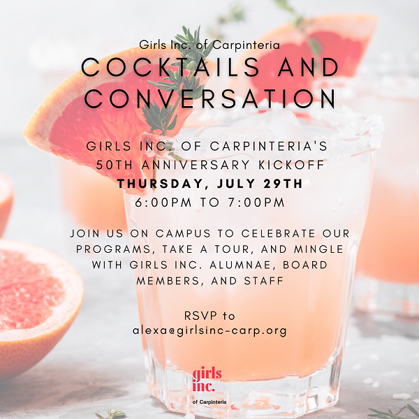 Cocktails & Convesations with Girls Inc. of Carpinteria title=