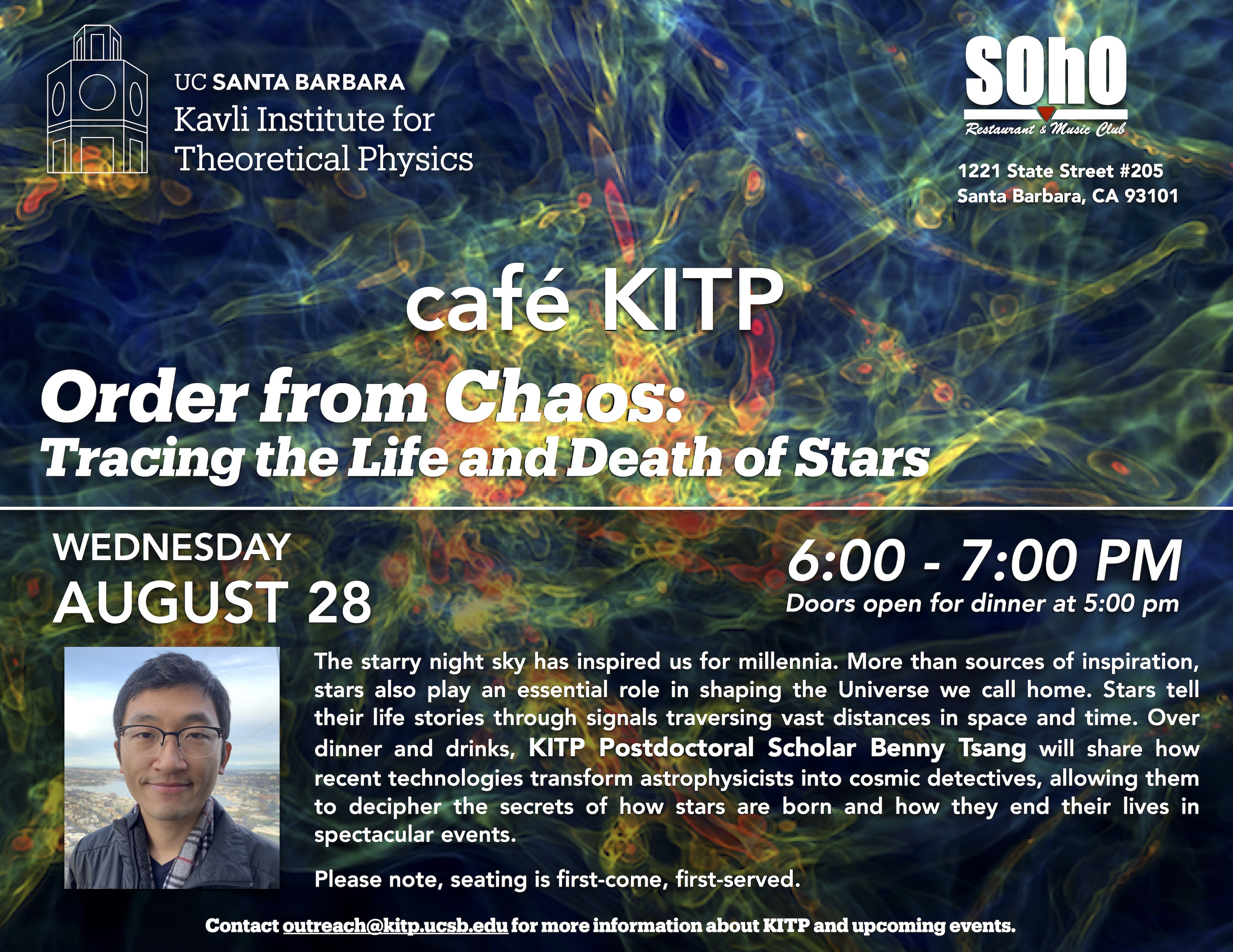 café KITP - Order from Chaos: Tracing the Life and Death of Stars title=