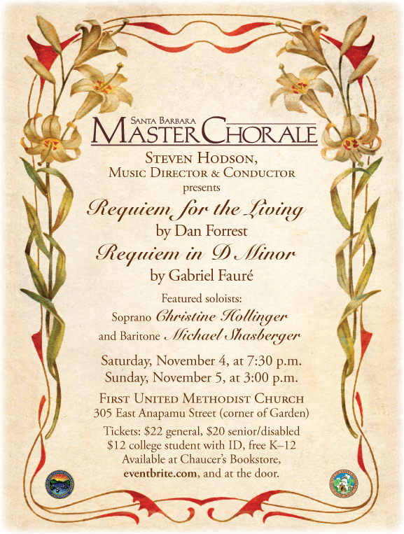 Santa Barbara Master Chorale sings Forrest & Faure title=