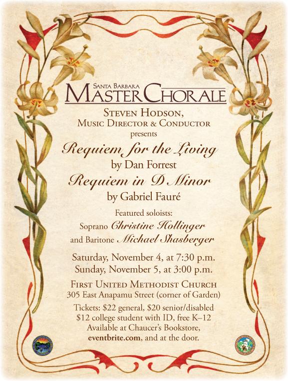 Santa Barbara Master Chorale sings Forrest & Faure