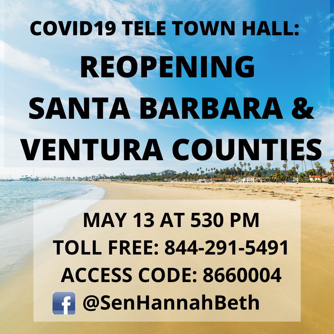 COVID-19 Teleconference Town Hall: Reopening Santa Barbara and Ventura Counties title=