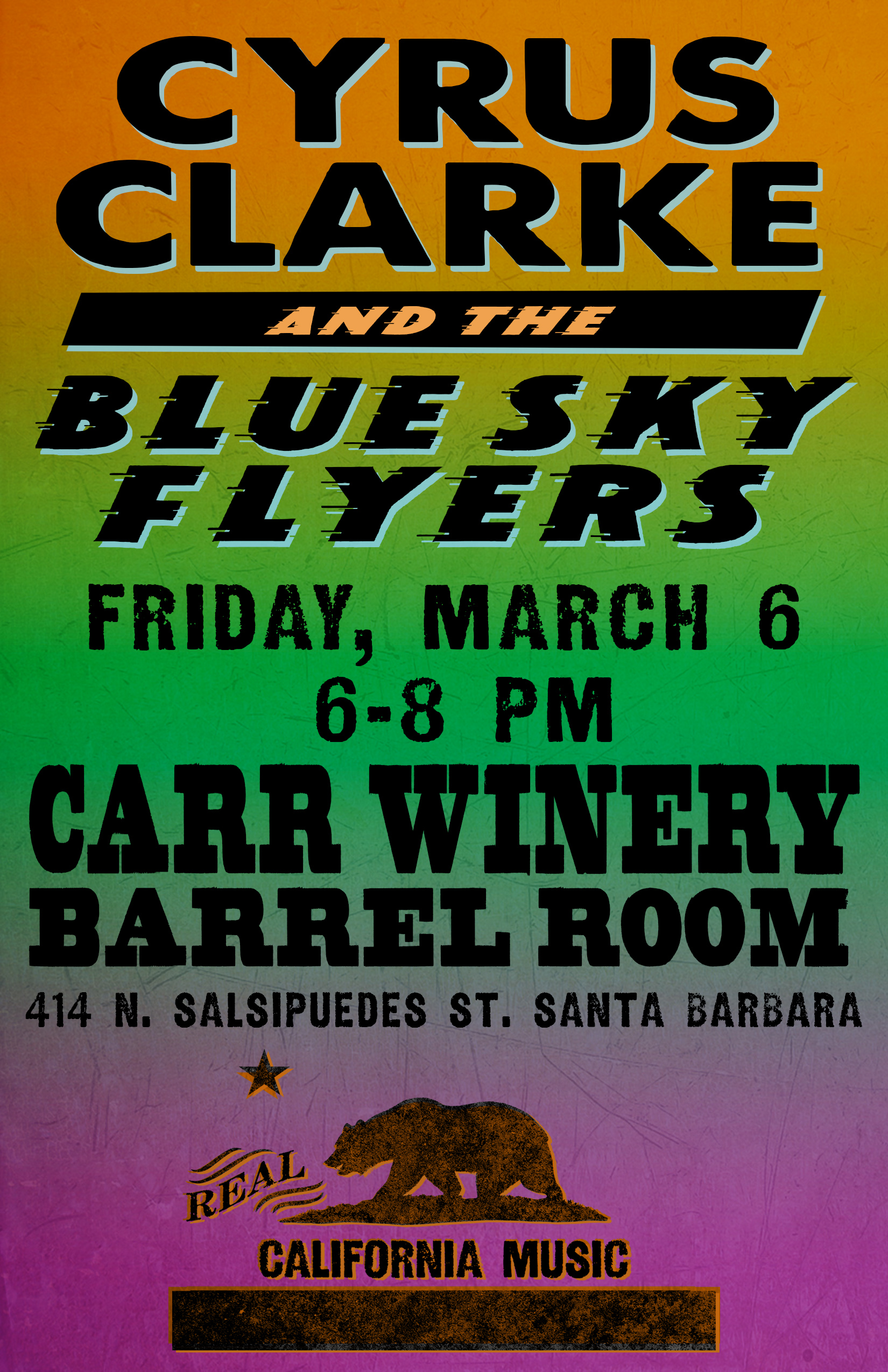 Live Music at Carr Winery with Cyrus Clarke title=