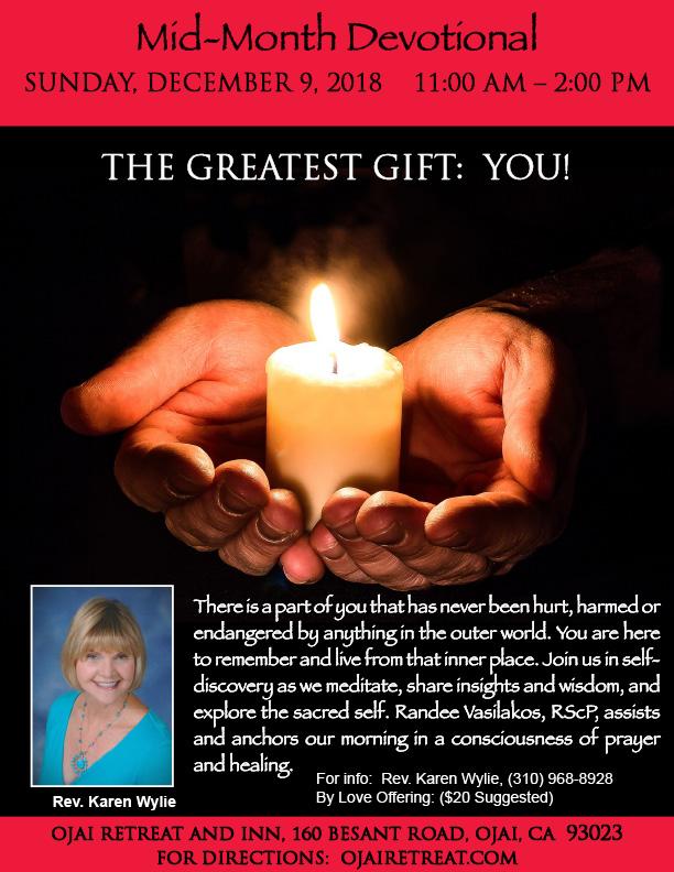 Rev. Karen's Monthly Devotional Retreat