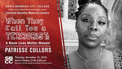 SBCC Dorantes Memorial Lecture featuring Patrisse Cullors title=