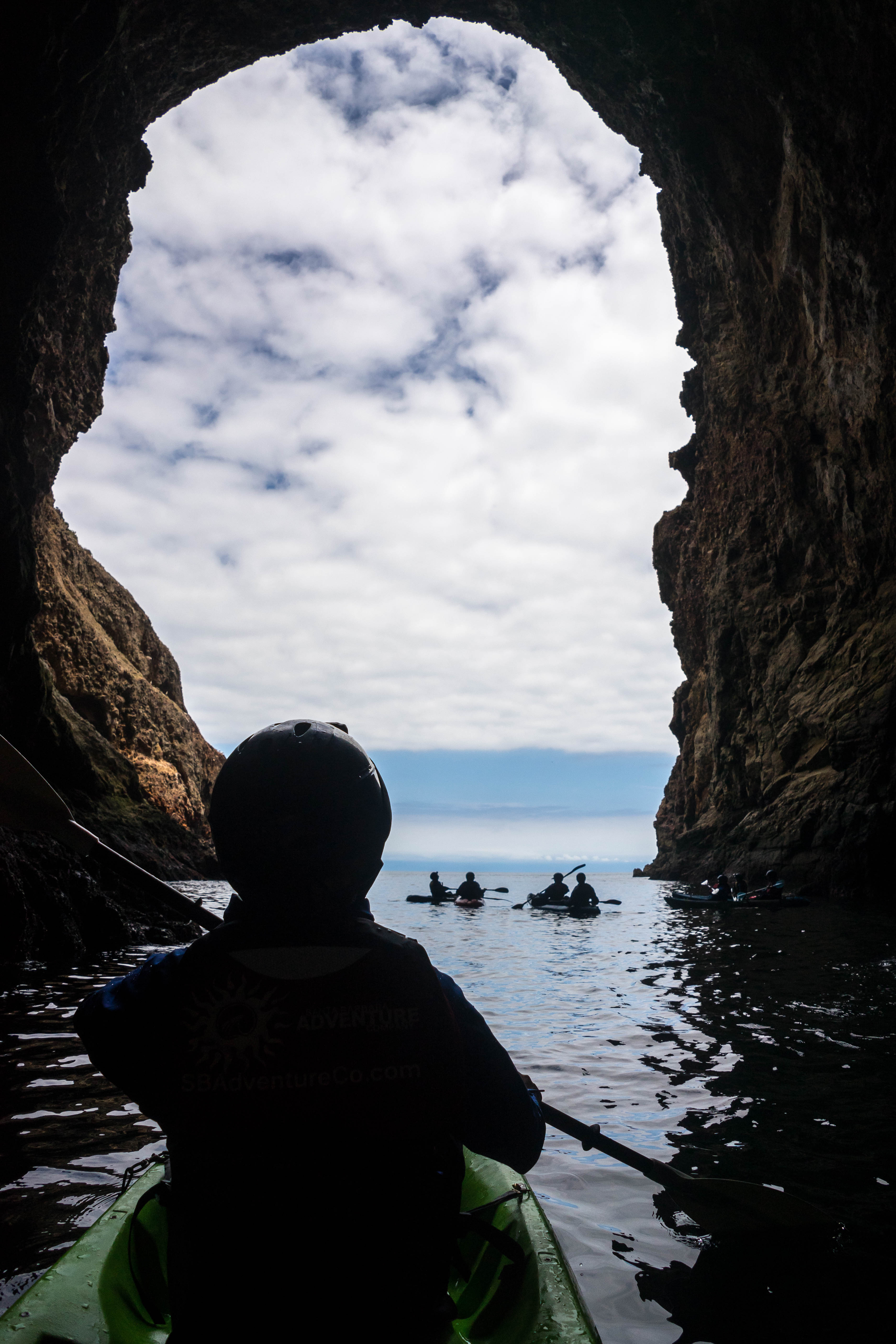 Kayak Painted Cave in Channel Islands National Park
